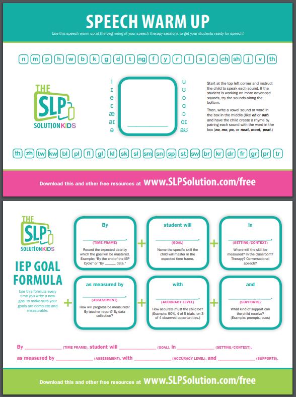 slp snf example goals