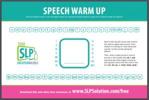 Random Feeding/Oral Motor Activity Generator - The SLP Solution