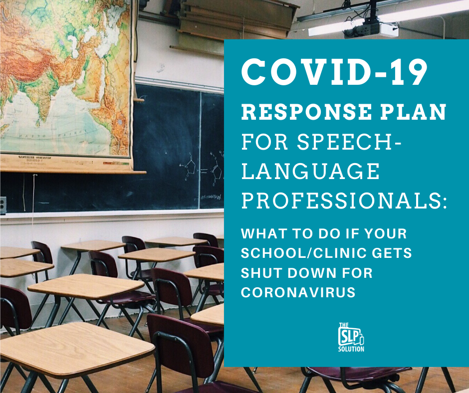 covid-19 Response plan for Speech-Language Professionals